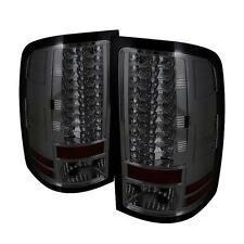Tail Lights GMC Sierra 1500-3500 NO Dual Rear 4 Wheels 2007-2012 LED - Smoke