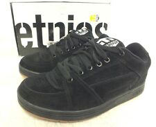 Etnies 'Rap' Black Suede Leather Skateboarding Shoes w/Gum Soles US 7/39 NEW