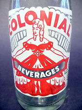 vintage ACL Soda Bottle: clear  COLONIAL of BETHEL PARK, PA. - 7 oz VINTAGE ACL