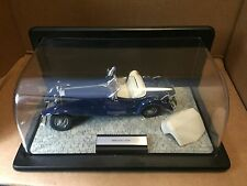 1935 MERCEDES-BENZ 500K SPECIAL BLUE ROADSTER FRANKLIN MINT 1:24 DIECAST & DSPLY