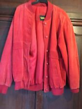 ❤⭐ Red Suede leather jacket size large approx 16 ❤⭐