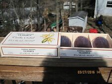 CASWELL MASSEY CLASSICS VANILLA ORCHID FLORAL SOAP BAR SET of 3 BARS NEW in BOX