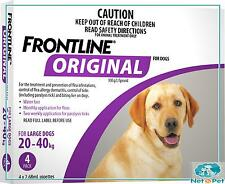 Frontline Original for Dogs 20-40kg 4 Pk Flea Tick Spot On Prevention Merial Lar