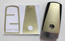 Matt Chrom Light Gold Folie Dekor Schlüssel VW Passat CC/B7 3C/35/36 R36 GTI
