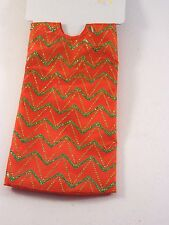 20 IN Red & Green Glitter Chevron MINI TABLE TREE SKIRT CHRISTMAS DECORATION