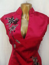 Oriental Chinese Red and Grey FASHION dress size 14