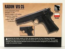 RADOM VIS-35 9mm Pistol Hand Gun Firearms ATLAS PHOTO SPEC HISTORY CARD
