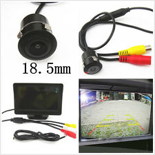 """18.5mm CCD Car Reverse Parking Camera Kit 4.3"""" TFT LCD Display Monitor For Ford"""