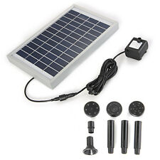 High Quality Solar Power Fountain Pond Water Pump Brushless Square 380L/H 12V 5W