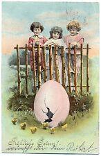 Ostern, Kinder, Ei mit Küken, 1907