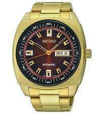 Seiko Men's SNKM98 Gold-Tone Stainless Steel Automatic Watch