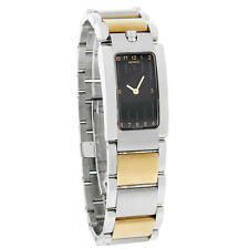 Movado Elliptica Womens Two Tone Swiss Watch 0604708