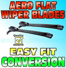 "Aero Flat Wiper Blades Pair Hook Fitting Modern Flat Design 24"" - 22"""