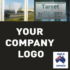 COMPANY LOGO  FROSTED ETCH GLASS SAFETY DOOR WINDOW STICKERS