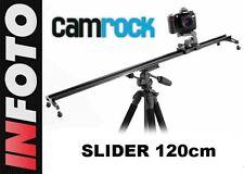 Videoschiene Slider Camrock VSL120 für DSLR und Camcorder Kamerafahrt bis 120 cm