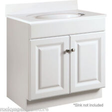 """Bathroom Vanity Cabinet Thermofoil White 30"""" Wide x 18"""" Deep New *Fast Delivery*"""