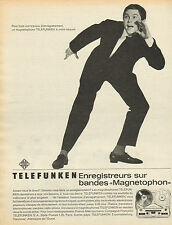"""Publicité 1960  ///  TELEFUNKEN  enregistreurs sur bandes """"Magnetophon"""""""
