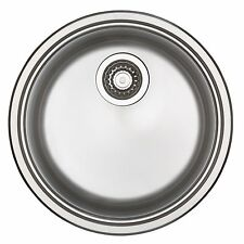 Blanco LARGE ROUND SINGLE INSET KITCHEN SINK Made in Germany, 23L Capacity, 45cm