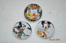 Snap metal Chunk Button HALLOWEEN MICKEY MOUSE DISNEY 3PC charm cover lot/18MM