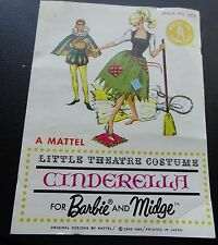 Vintage Barbie Cinderella Pamphlet (Little Theatre)
