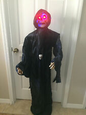 Halloween Skeleton Skull Animated Rolling Moving Motion Sound Lights Up