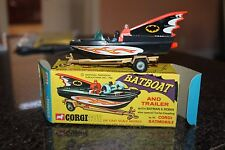 Corgi Toys 1968 Batman & Robin Batboat & ORIGINAL MINT MINT  RARE BOX