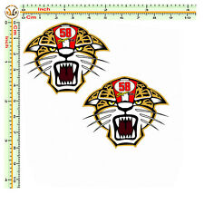 marco simoncelli adesivi tigre stampa su pvc per auto moto casco corse 2 pz.