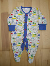 NEXT CREAM SLEEPSUIT WITH BRIGHT CAR PRINT 1ST SIZE 3.4kg, 7.8lbs
