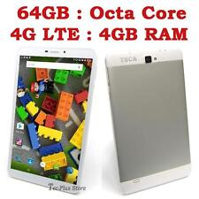 "UK STOCK:TECA LTE840 4G OCTA CORE 4GB-RAM 64GB 8"" FHD ANDROID 5.1 TABLET PHONE x"