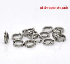 500 double boucle silver tone split anneaux 5x1.2 mm charmes pendentifs ~ ~ couture (96C) UK
