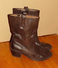 SONOMA Mid Calf  Western Wedges High Heels COWBOY BOOTS  Womens Shoes Sz 8 @