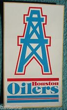 Houston Oilers NFL Football Orig 70's Oil Derrick Bumper Sticker ~New Old Stock