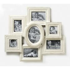 Vintage Shabby Chic Extra Large Wooden Multi Collage Photo Cream