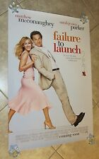 Failure To Launch movie poster Sarah Jessica Parker poster, Matthew McConaughey