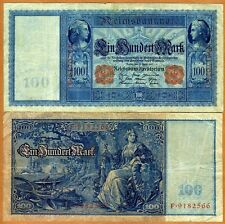 Germany, 100 Mark, 1910, Pick 42, VG   Seated Germania