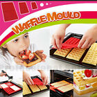 Brand New 4 Holes Silicon Waffle Chocolate DIY Tray Mold Maker