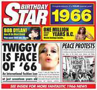 50th 1966 Birthday Gifts Chart Hits Britpop CD Card Gift Greetings Music Cards