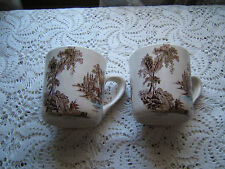 Two Johnson Brothers Multi Colored  Old Mill Mugs
