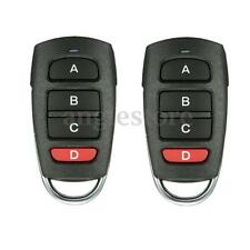 2X Universal 4 Button Cloning 433mhz Electric Garage Gate Door Remote Control US