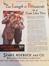 Sears Roebuck Ad 1929 Saturday Evening Post You Can Laugh at Blizzards VG Cond