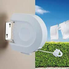 NEW 12M CLOTHES LINE FOR DRYING AIRING CLOTHING RETRACTABLE OUTDOOR WASHING LINE