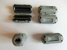 4 X 3mm FERRITE CORE - FERROUS RING CHOKE-CLIP ON NOISE FILTER-EMI & RFI
