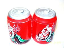 COCA-COLA CANS SALT AND PEPPER SHAKERS CERAMIC