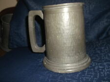 VINTAGE COLLECTABLE HAND HAMMERED PEWTER TANKARD GOOD SIZE JAS WALSH BOLTON