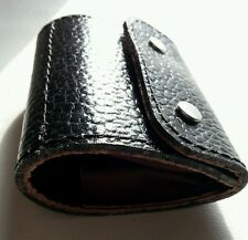 .223/.204/.222  Bullet wallet. Black/ Burgundy real leather. With studs.