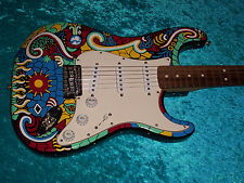 Mosaic Fender Stratocaster Guitar Strat MIM Mexican Mexico paint USA standard