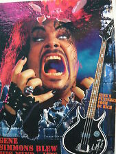 KISS (GENE SIMMONS) - MAGAZINE CUTTING (FULL PAGE ADVERT) (REF JC1)