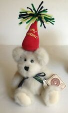 "Boyds Bear H. B. Bearwish Happy Birthday Jointed  Bear 10""Plush Retired"
