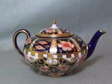 "Antique Royal Crown Derby Miniature Teapot Imari Pattern 6299 ""Derby Witches"""