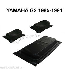 Yamaha 1985-1991 G2 Golf Cart BLACK Seat Bottom & Seat Back Cover Set